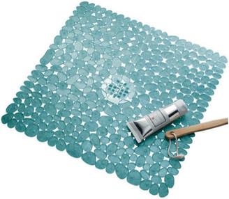 iDesign Pebblz Non-Slip Square Suction Bath Mat for Shower & Bathtub,