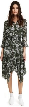Shoshanna Women's Koko Three-Quarter Sleeve Drape Dress