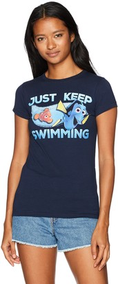 Disney Women's Finding Dory Just Keep Swimming Graphic Crew T-Shirt