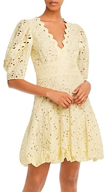 Rebecca Taylor Audrey Eyelet Mini Dress