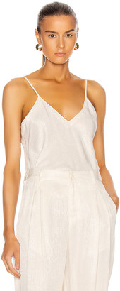 Raquel Allegra Bias Cami Top in Dirty White | FWRD