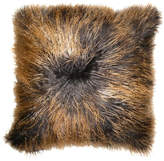 Aviva Stanoff Design Dip-Dyed Mongolian Fur Accent Pillow