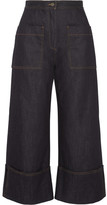 Fendi High-rise Wide-leg Jeans - Dark denim