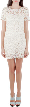 Sea Cream Battenburg Lace Shift Dress XS
