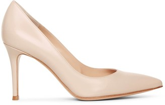 Gianvito Rossi Gianvito 85 cream leather pumps