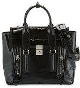 3.1 Phillip Lim Pashli Medium Patent Satchel Bag, Black