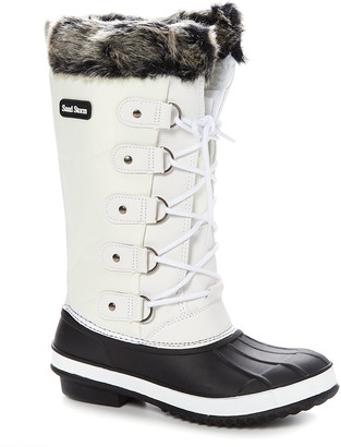 Sand Storm Women's Cold Weather Boots White - White Faux Fur-Trim Duck Boot - Women