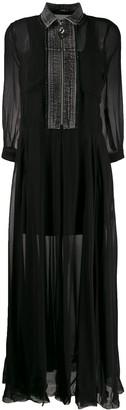 Diesel denim panel dress