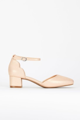 Wallis Pink Rose Ankle Strap Heel Shoe