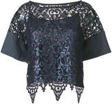 Antonio Marras lace cropped blouse