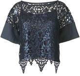 Antonio Marras lace cropped blouse
