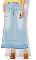 New York & Co. Soho Jeans - Released Hem Culotte - Sassy Blue Wash