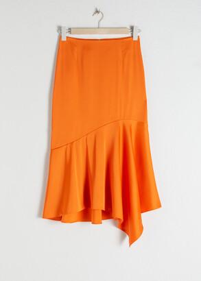 And other stories Satin Handkerchief Midi Skirt