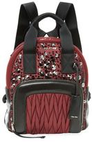 Miu Miu Embellished Matelassé Small Backpack