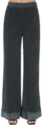 M Missoni Flared Lurex Viscose Knit Pants