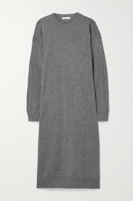 The Row Anibale Cashmere Midi Dress - Gray