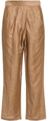 Masscob Moulin Wrap-effect Linen-blend Straight-leg Pants