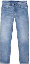 Gucci Blue Distressed Slim-leg Jeans