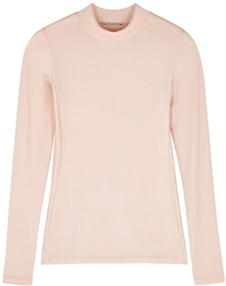 Vaara Evelyn pink stretch-jersey top