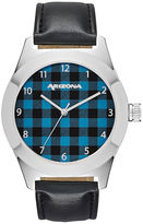 Arizona Mens Blue Strap Watch-Fmdarz523