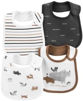 Carter's Baby Boy 4-Pack Woodland Creatures Teething Bibs