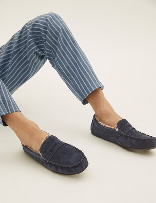 Marks and Spencer Suede Slippers with Freshfeet
