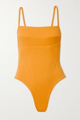 Haight Paula Stretch-crepe Swimsuit - Saffron