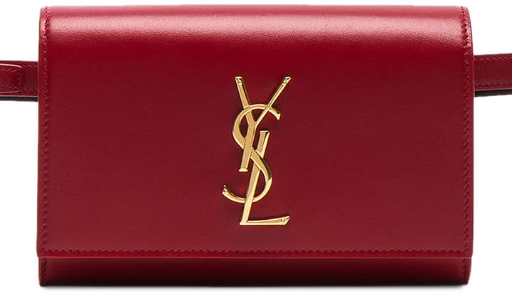 Saint Laurent Monogramme Kate Hip Belt with Pouch