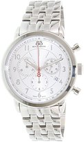 88 Rue du Rhone Men's 87WA120044 Double 8 Analog Display Swiss Quartz Silver Watch