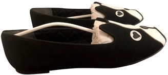 Marc by Marc Jacobs Black Suede Ballet flats