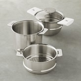Cristel Mutine Satin Double Boiler & Steamer Set