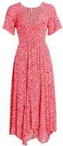 Free People In Full Bloom Handkerchief A-Line Midi Dress