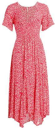 Free People In Full Bloom Handkerchief A-Line Midi Dress