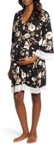 Angel Maternity Maternity/Nursing Dress, Robe & Blanket Set