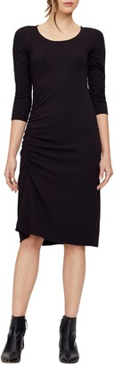 Michael Stars Tina Ruched Stretch Cotton Body-Con Dress