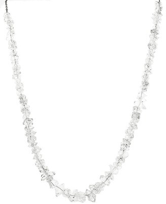 Jacquie Aiche Clear Quartz Beaded Yellow Gold Necklace