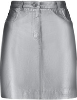 Pierre Balmain Metallic leather mini skirt