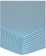 George Home Blue Stripe Fitted Sheet - Single