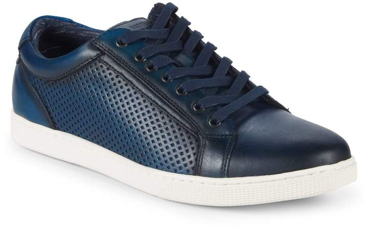 156043db8ca Perforated Leather Low-Top Sneakers