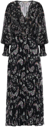 Rebecca Taylor Pleated Georgette Maxi Dress