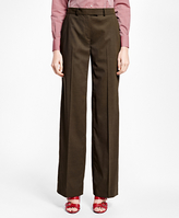 Brooks Brothers Petite Painted-Button Wool Trousers