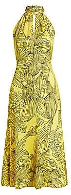Milly Women's Tropical Floral Halter Dress - Size 0