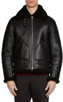 Acne Studios Leather Shearling Jacket