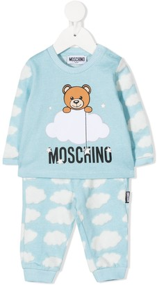 MOSCHINO BAMBINO Cloud Print Tracksuit Set