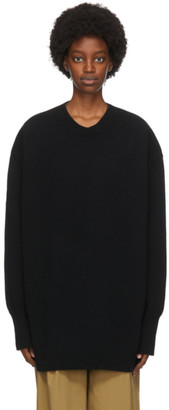 Studio Nicholson Black Wool The Big Knit Sweater