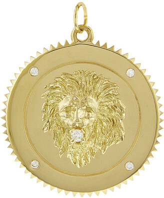 Foundrae Large Strength Yellow Gold Medallion