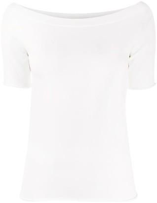 Roberto Collina short sleeve boat neck top