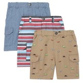 Garanimals Toddler Boy Canvas Cargo Shorts, 3pk