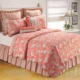 Bed Bath & Beyond Natural Shells Reversible Twin Quilt in Coral