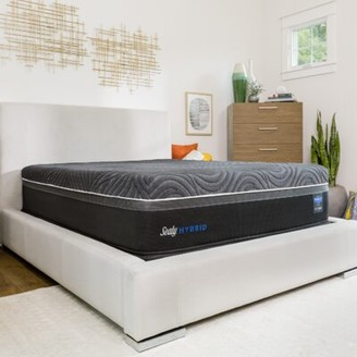 """Sealy Hybrid Premium Silver Chill Cooling 14"""" Firm Mattress and Box Spring Mattress Size: King, Box Spring Height: Standard Profile (9"""")"""